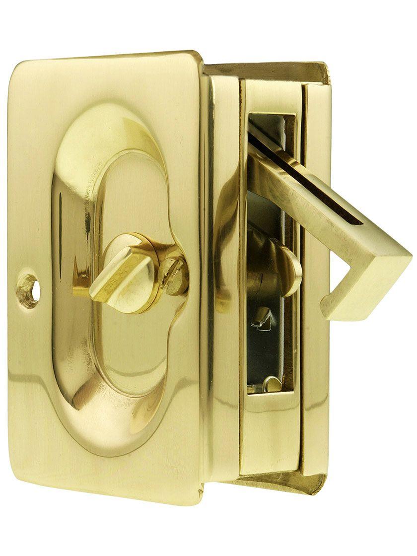 Premium Quality Mid Century Pocket Door Privacy Lock Set Pinterest