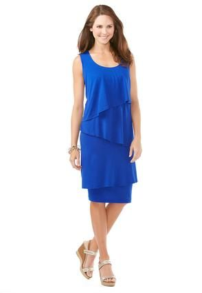 e4c7a39f30a Cato Fashions Tiered Knit Dress-Plus  CatoFashions