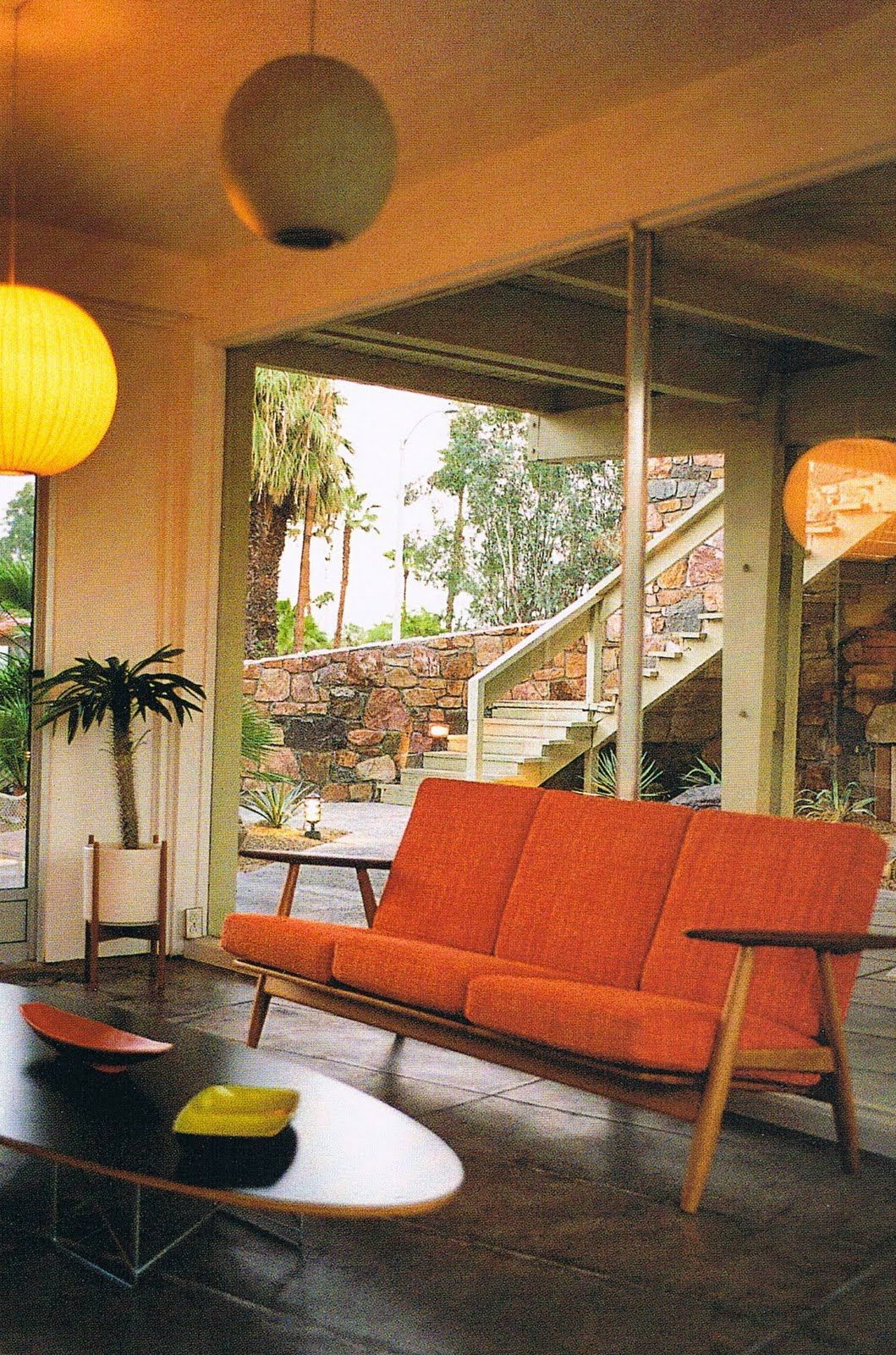 Del marcos hotel designed by albert frey places spaces et - Idees decors du milieu du siecle salon ...