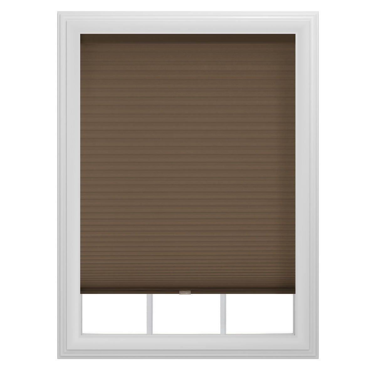 Bali blinds mocha cordless cellular shade by inch cellular