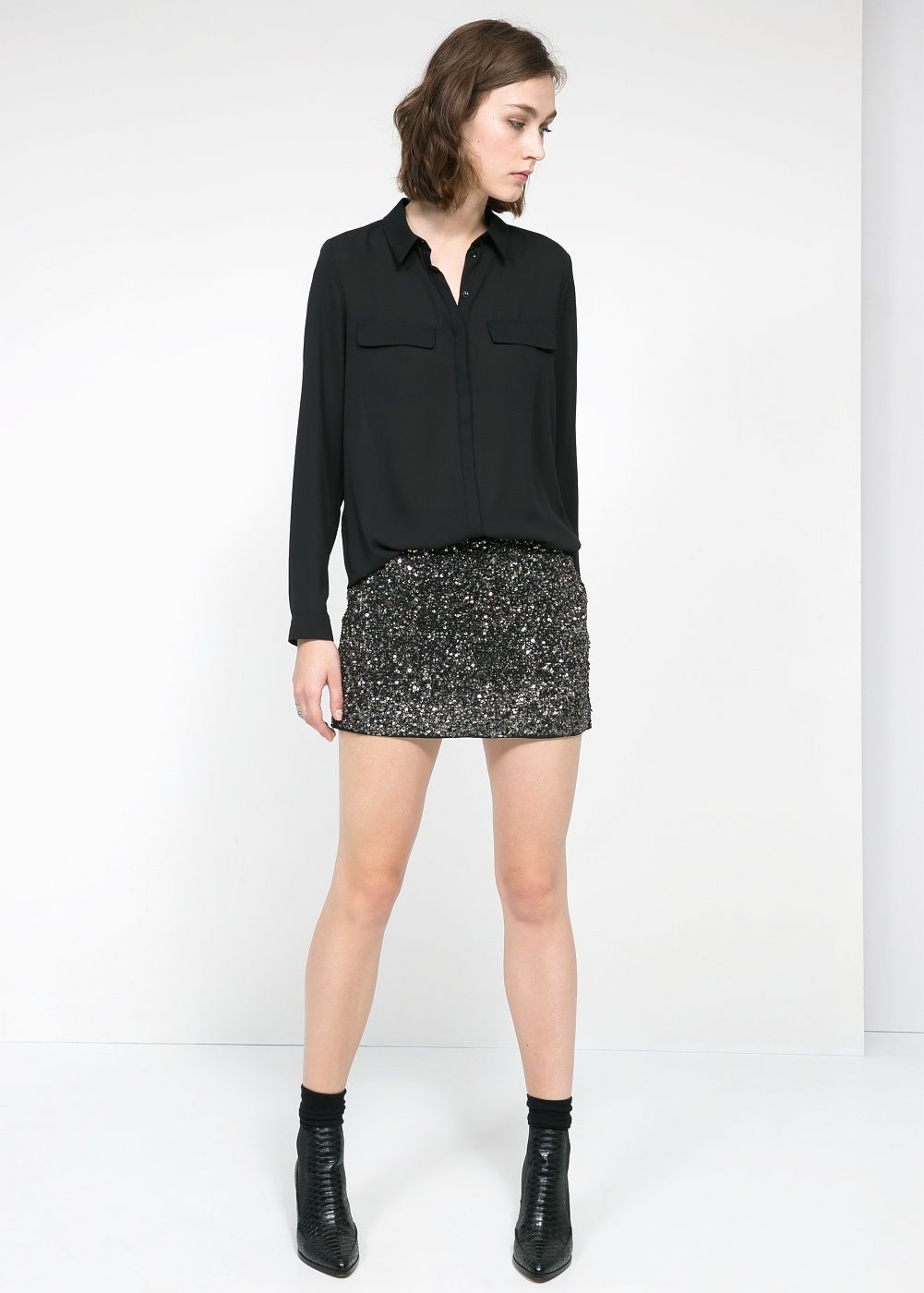 6e2f743e3b Minifalda lentejuelas - Mujer