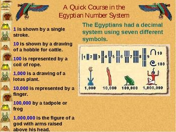 Here's a site with information about the Ancient Egyptian number ...