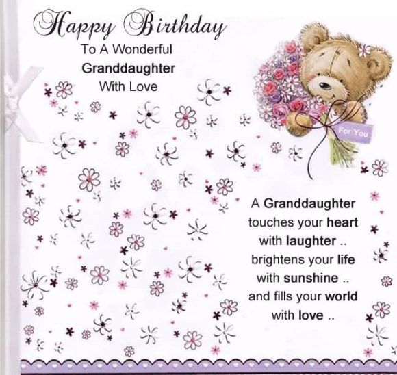Birthday Poem For Granddaughter
