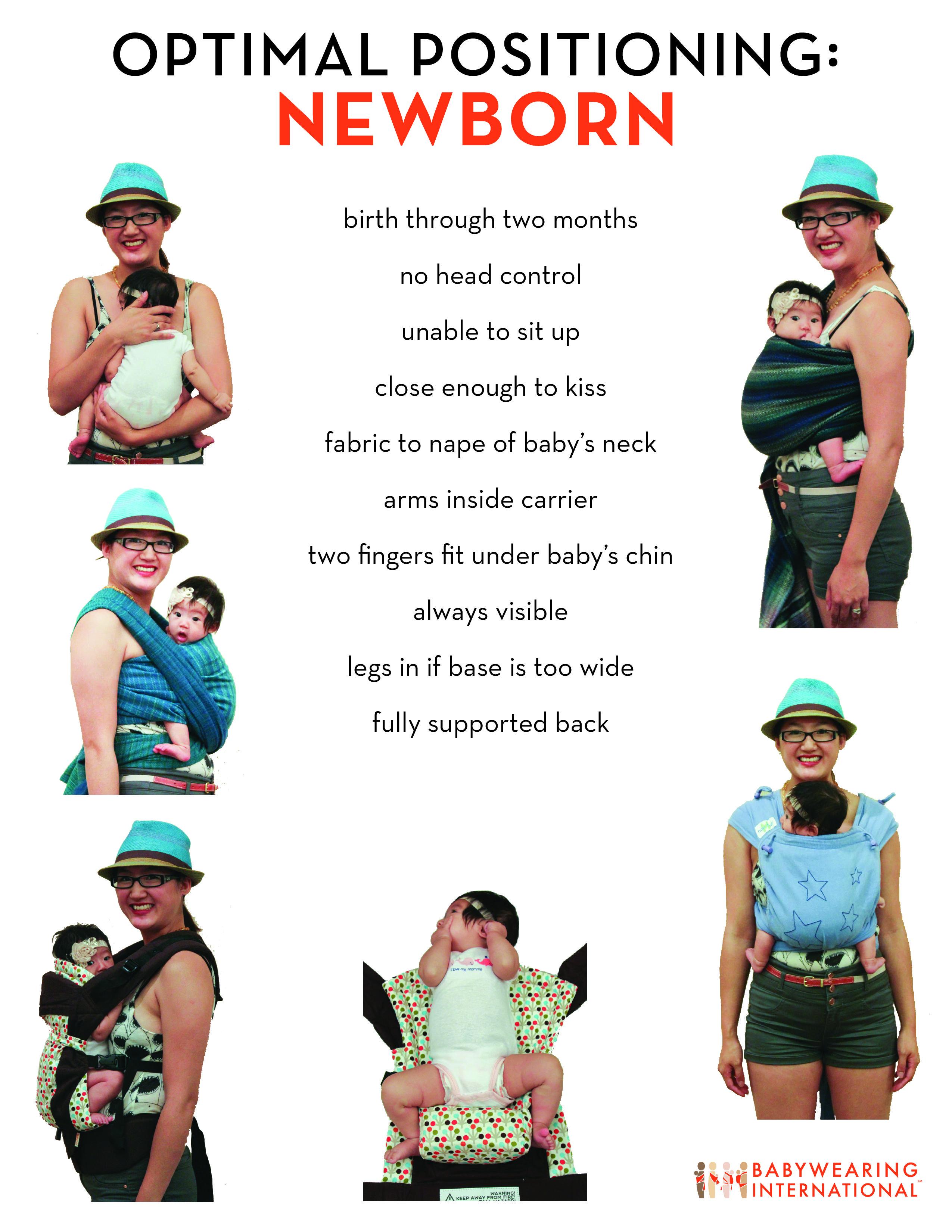 Optimal Positioning Newborn Www Babywearininginternational Org