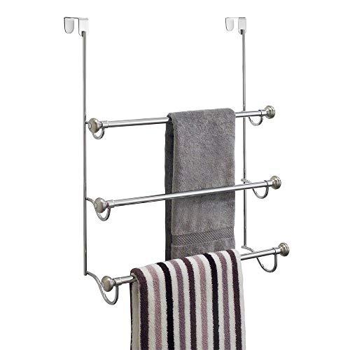 Interdesign York Over The Shower Door Towel Rack For Bathroom Bath Towel Racks Towel Rack Bathroom Towel Rack