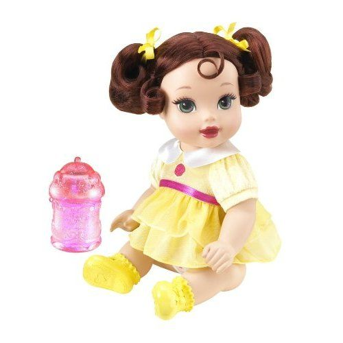 Disney Princess Sparkle Baby Cinderella Doll: Amazon.com: Disney Princess Sparkle Baby Belle Doll: Toys