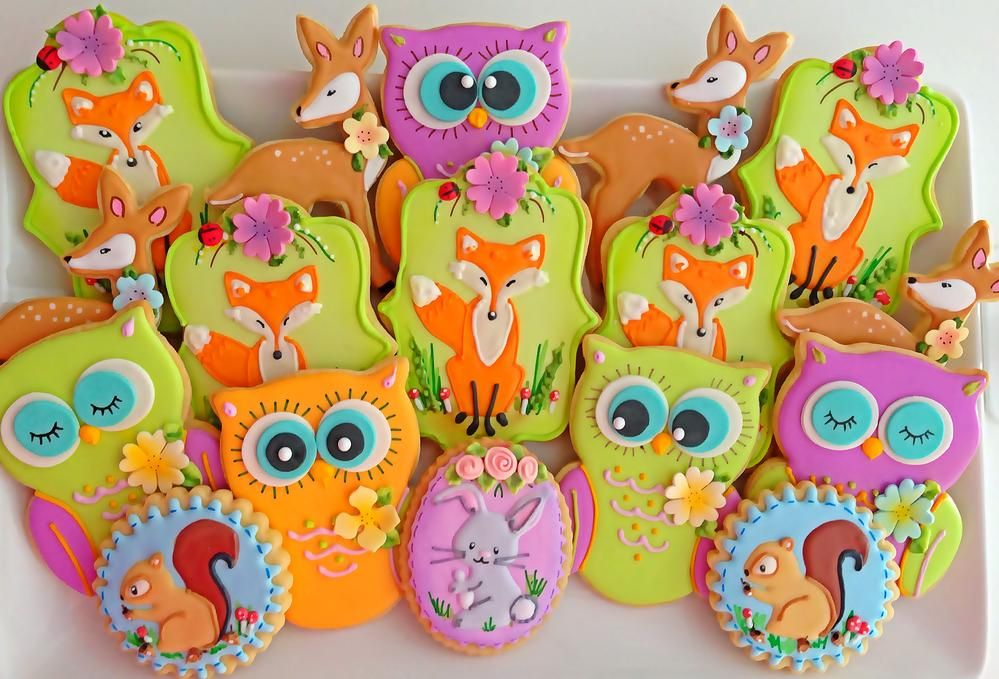 Woodland Animal Cookies by Compassionate Cake