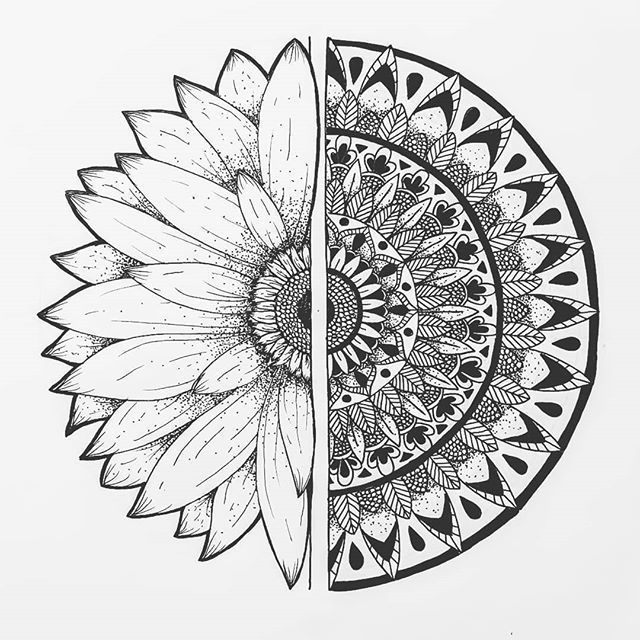 Finally finished! This is my take on a sunflower mandala 🌻❤️ . . . . . ...
