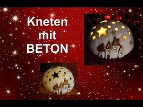 windlichter mit beton f r kreative von viva decor youtube weihnachten knete knetbeton und. Black Bedroom Furniture Sets. Home Design Ideas