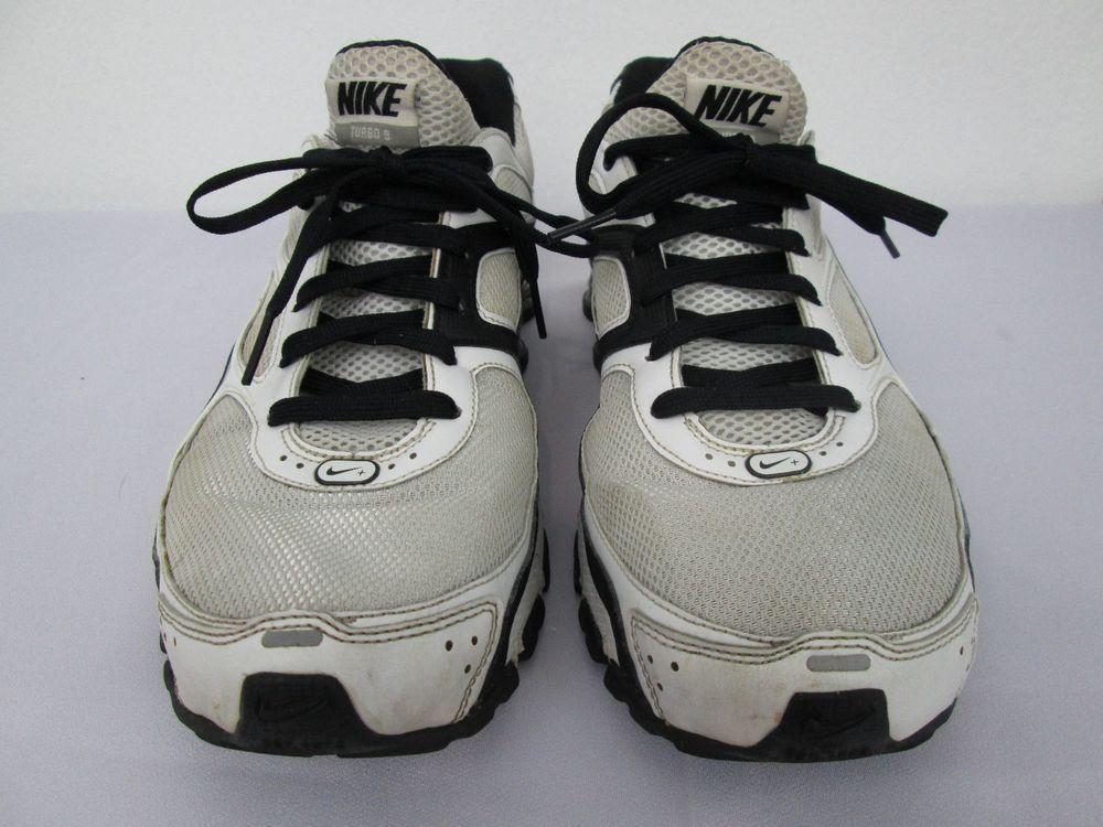 83cfa7b3d832 ... australia mens nike shox turbo 9 white black metallic silver metal size  9.5 nike runningcrosstraining 96a11