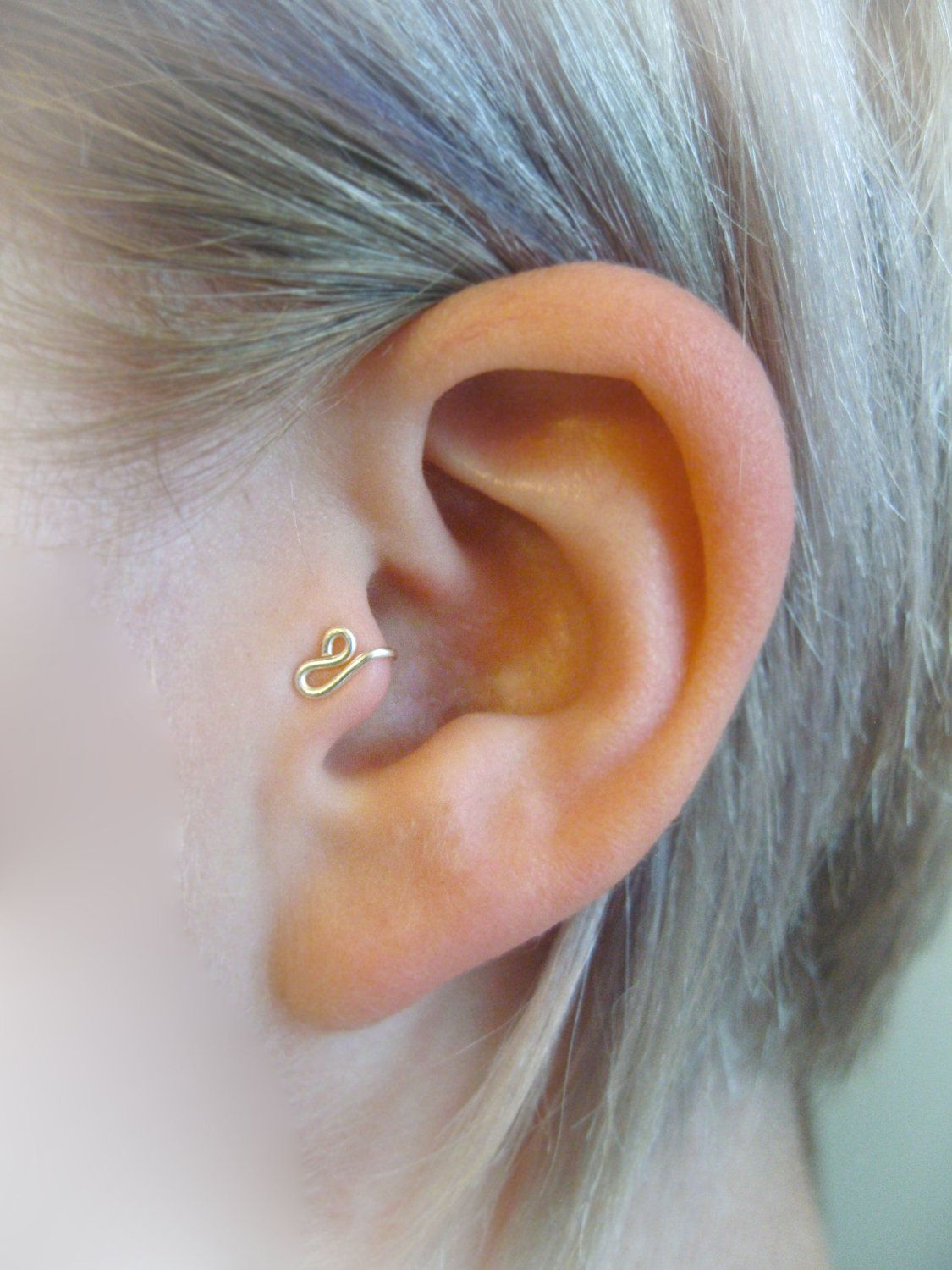 Nose piercing each side  Tragus Cuffs This doesnut look too bad either  Craft Ideas