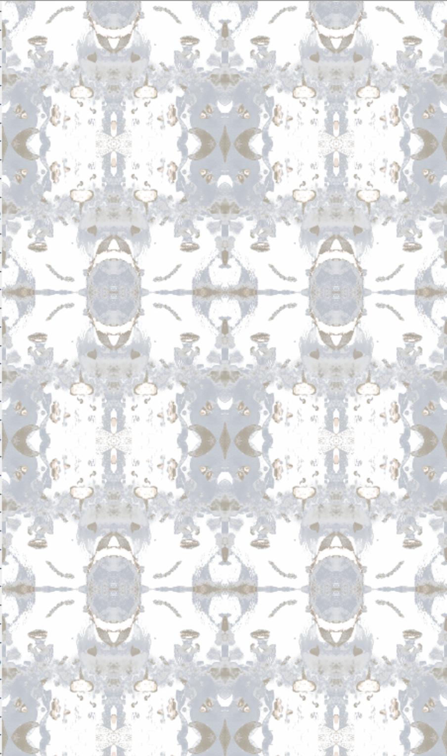 Luna Pale Gray/Blue – Jennifer Latimer Prepasted Wallpaper, Blue Grey, Indigo,