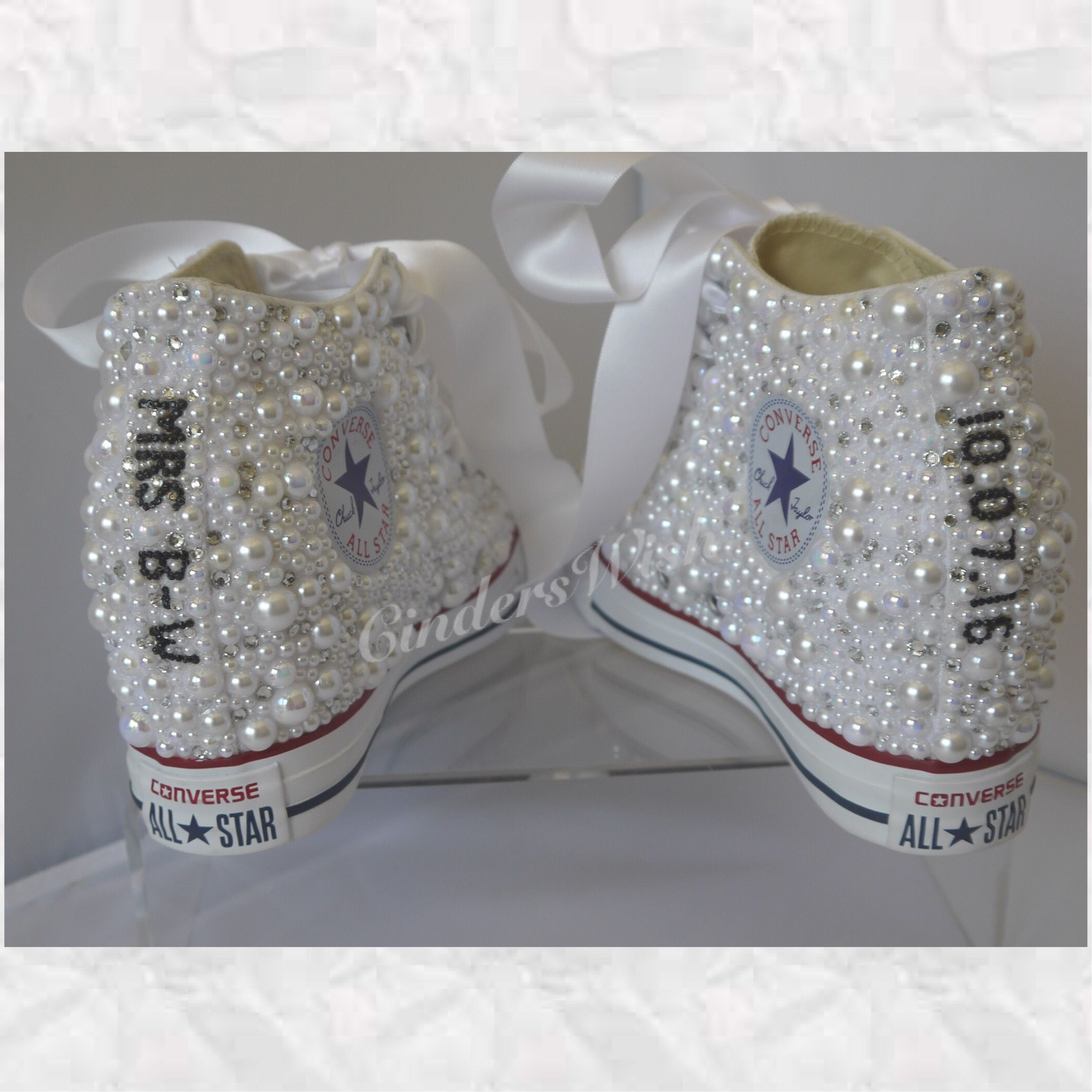 Converse Wedge Luxury pearl sparklers All over converse Bridal