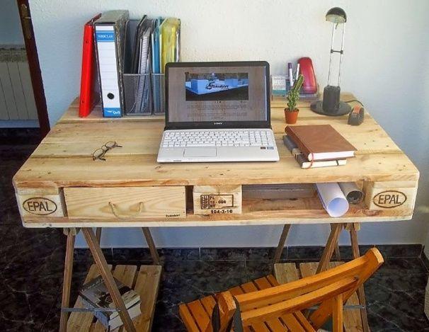Faire un bureau en bois de palette des modèles bureau en bois