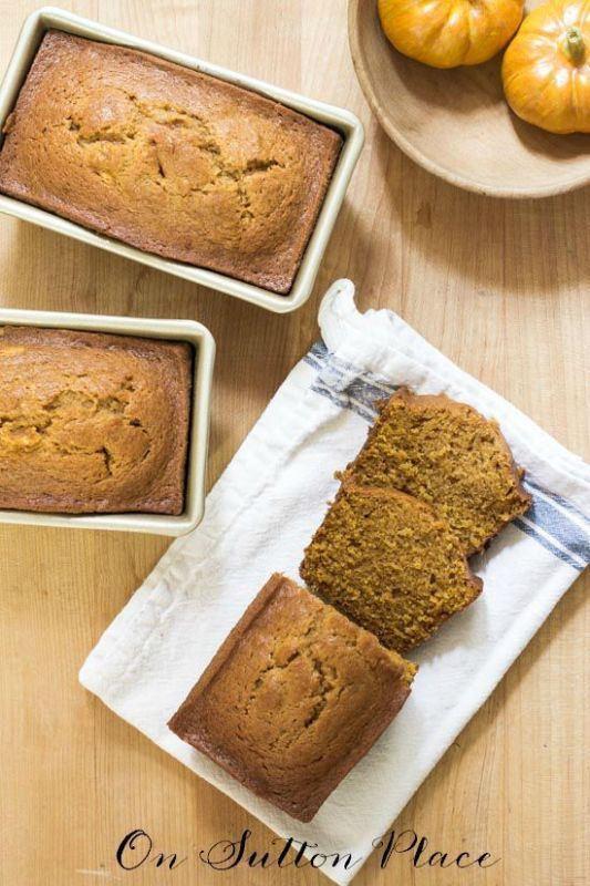 Must-Make Pumpkin Treats   Recipes for 2 tried and true desserts including this amazing and easy PUMPKIN BREAD that the whole family will love. Perfect comfort food for those chilly Fall days! #spon