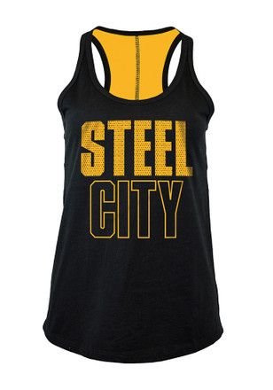 93f60d725 Pittsburgh Steelers Womens Black Training Camp Tank Top