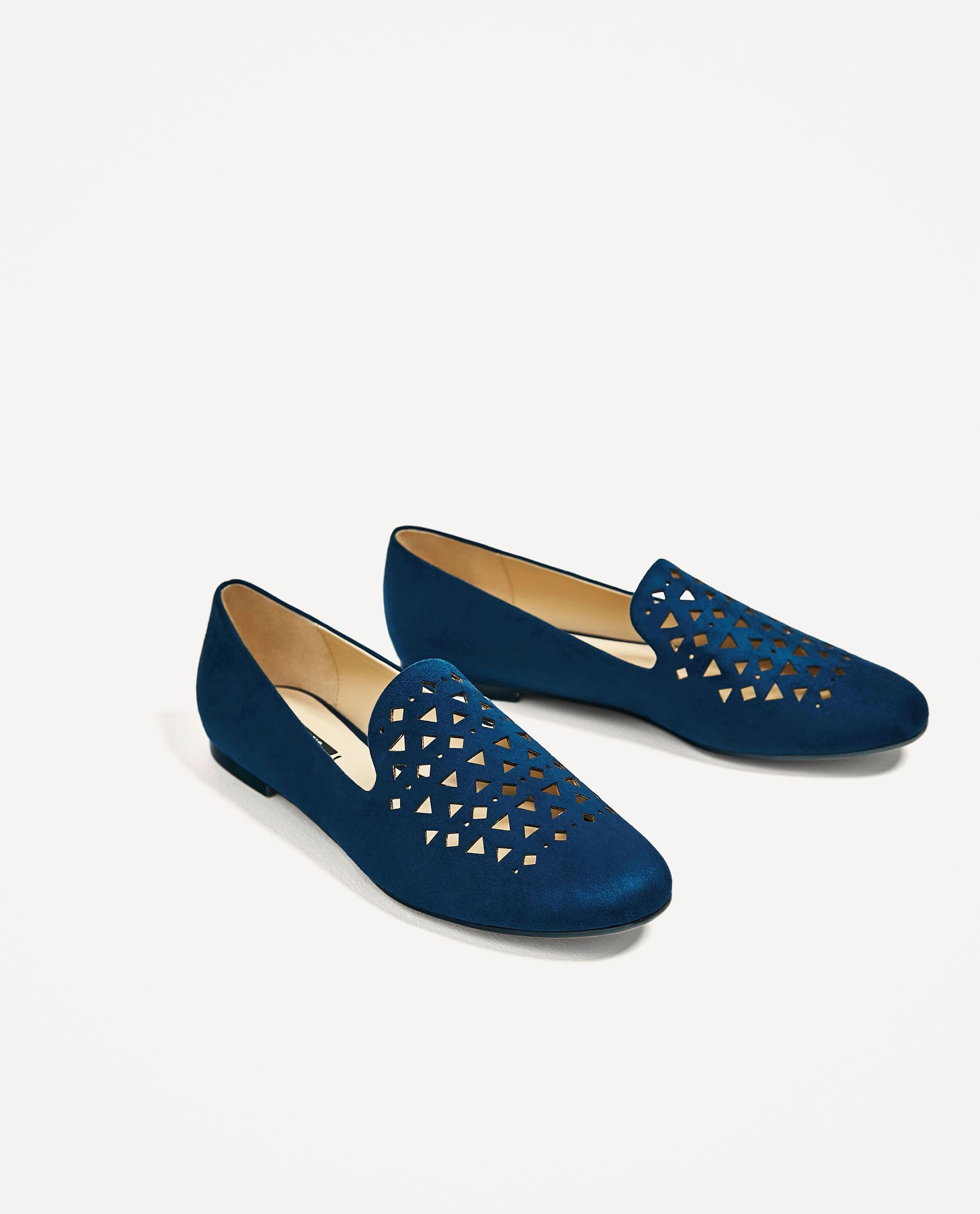 Zara Woman Flat Shoes With Cutwork Detail Flache Schuhe Damen Bequeme Schuhe Coole Schuhe