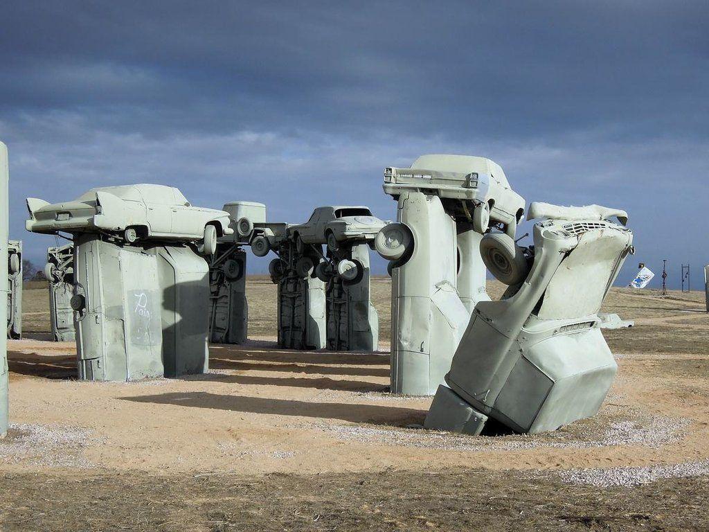 Carhenge, Nebraska, USA   Stonehenge, Stone pillars