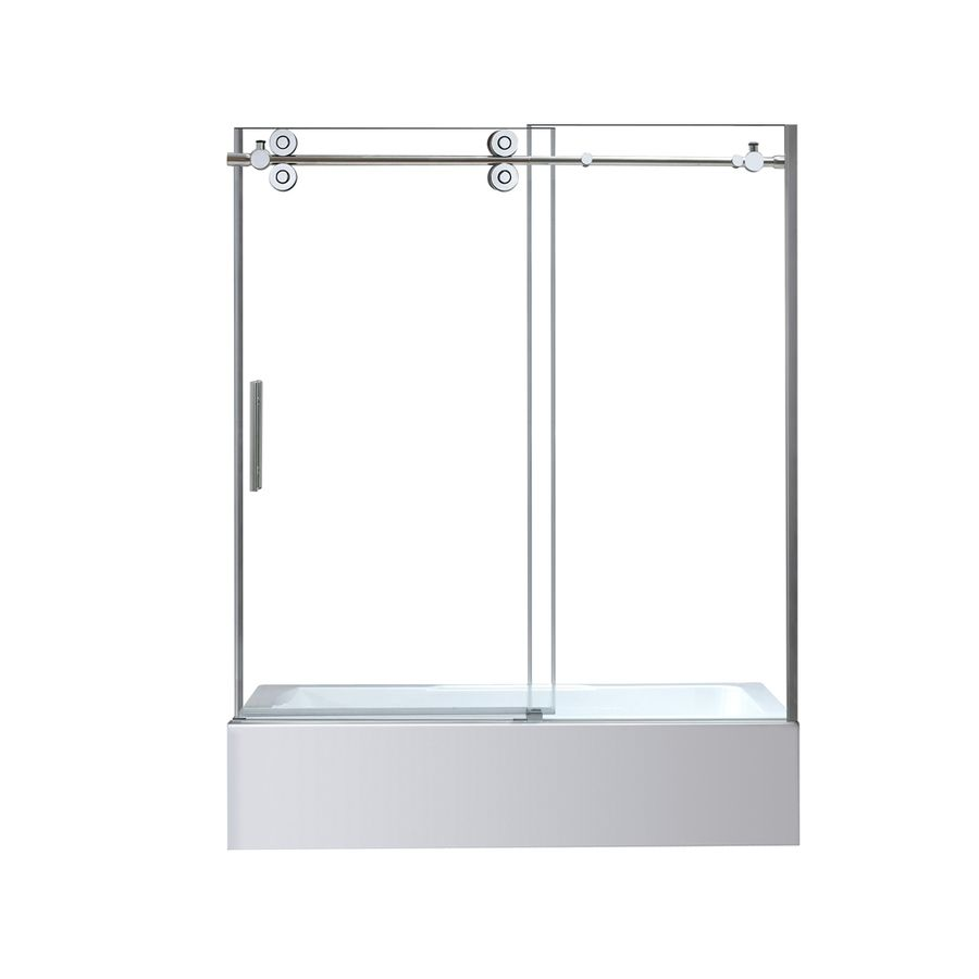 OVE Decors Sydney 59.5-in W x 59-in H Polished Chrome Frameless ...