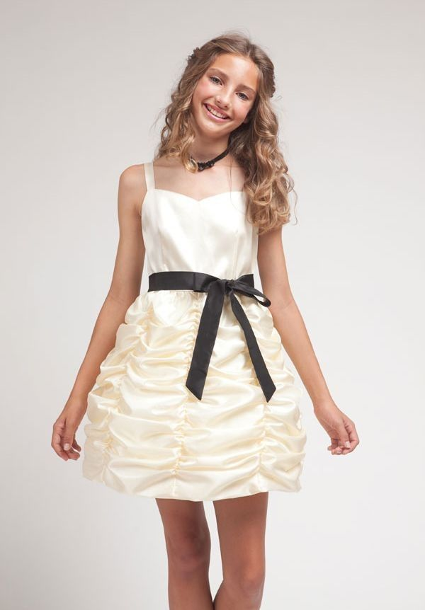 Cute Clothes for Juniors | Satin Sweetheart A-Line Short Junior ...
