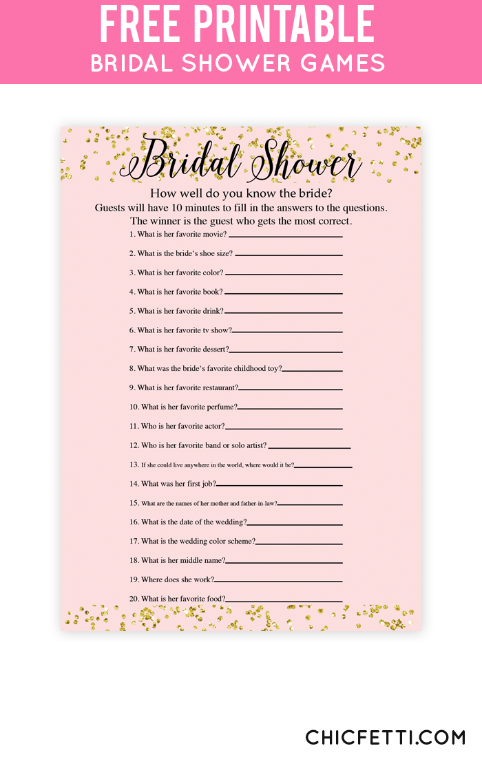 25  best ideas about Free Bridal Shower Games on Pinterest  Shower games, Kitchen tea games and