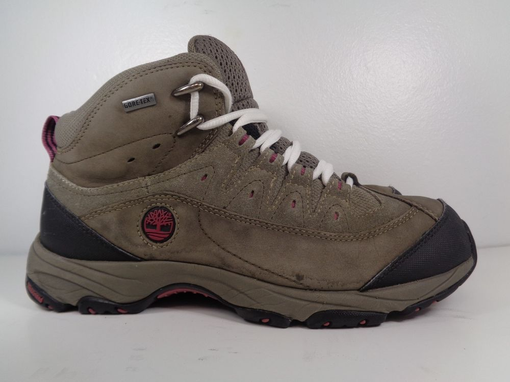 3f8cf72a5cf Timberland Khaki Low Gore Tex Womens Hiking Trainers Hiker 3229R ...