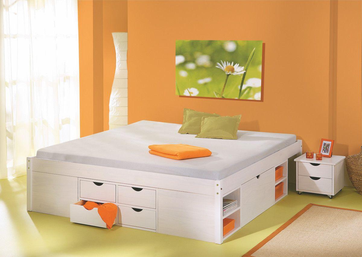 Bett 160 X 200 Cm Kiefer Weiss Inter Link Till Holz Modern Jetzt Bestellen  Unter: