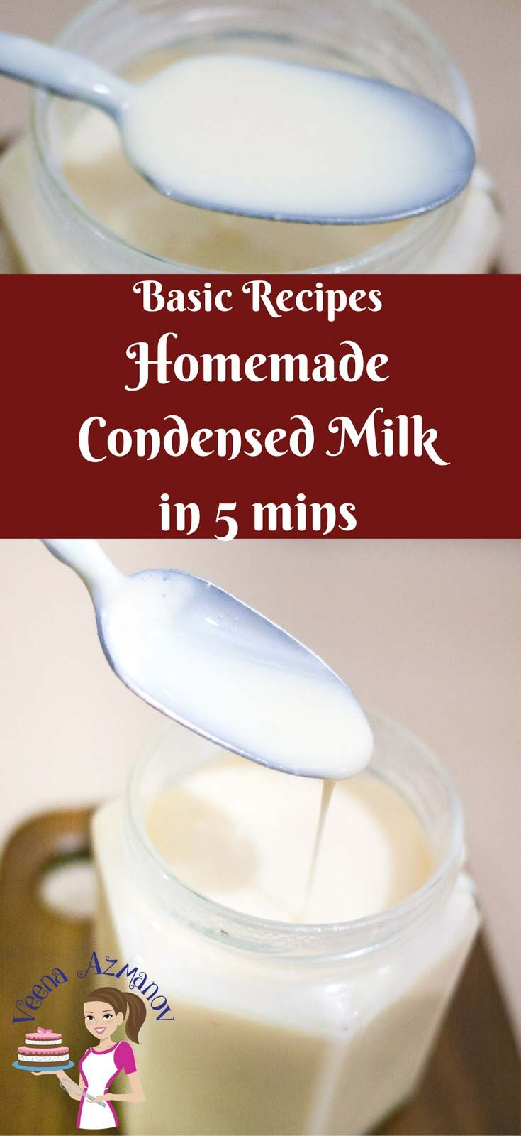 Homemade Condensed Milk In 5 Minutes How To Make Condensed Milk At Home Traditional Condensed Milk Can Tak Homemade Condensed Milk Milk Recipes Condensed Milk