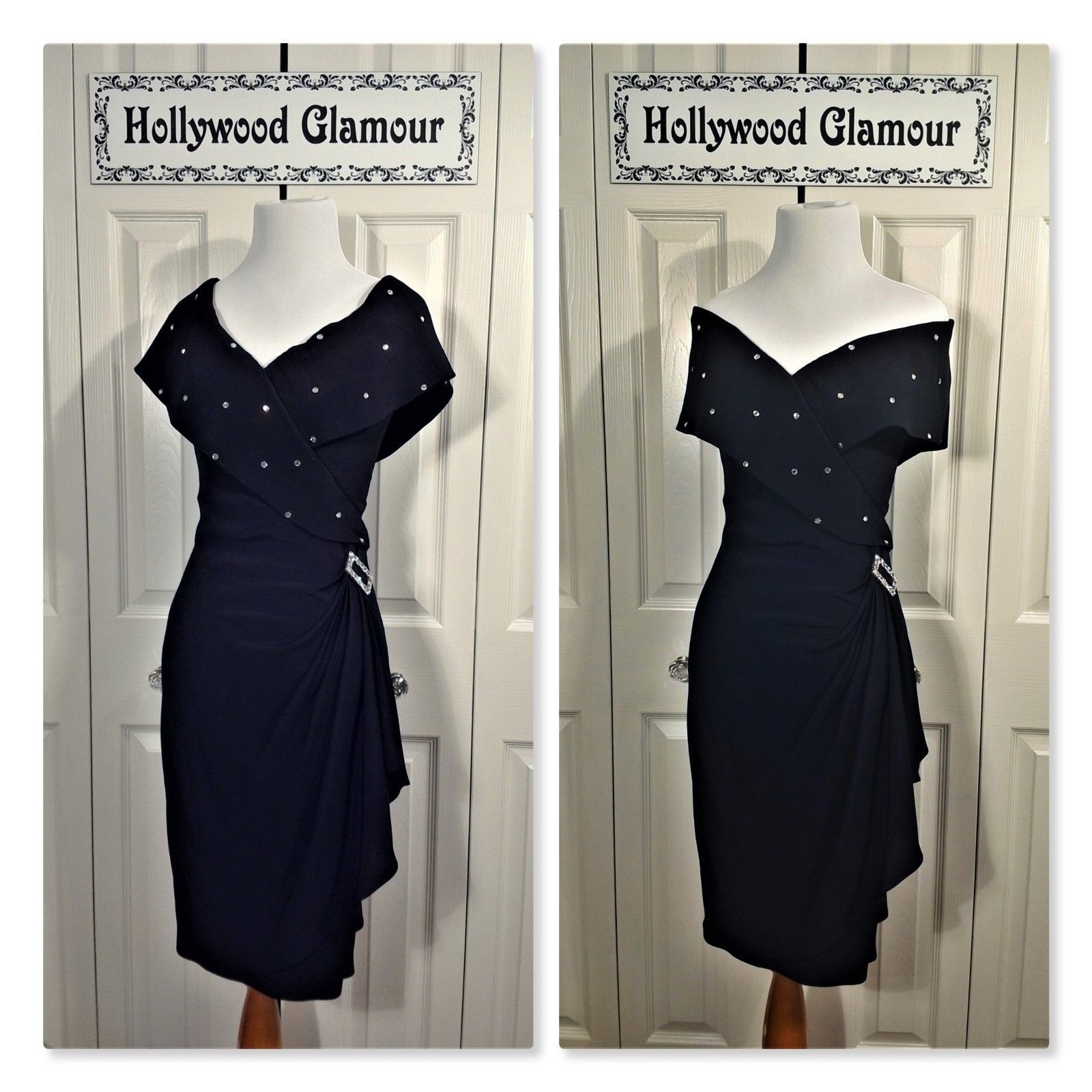 Awesome awesome topaz s vtg sexy black wiggle evening party dress