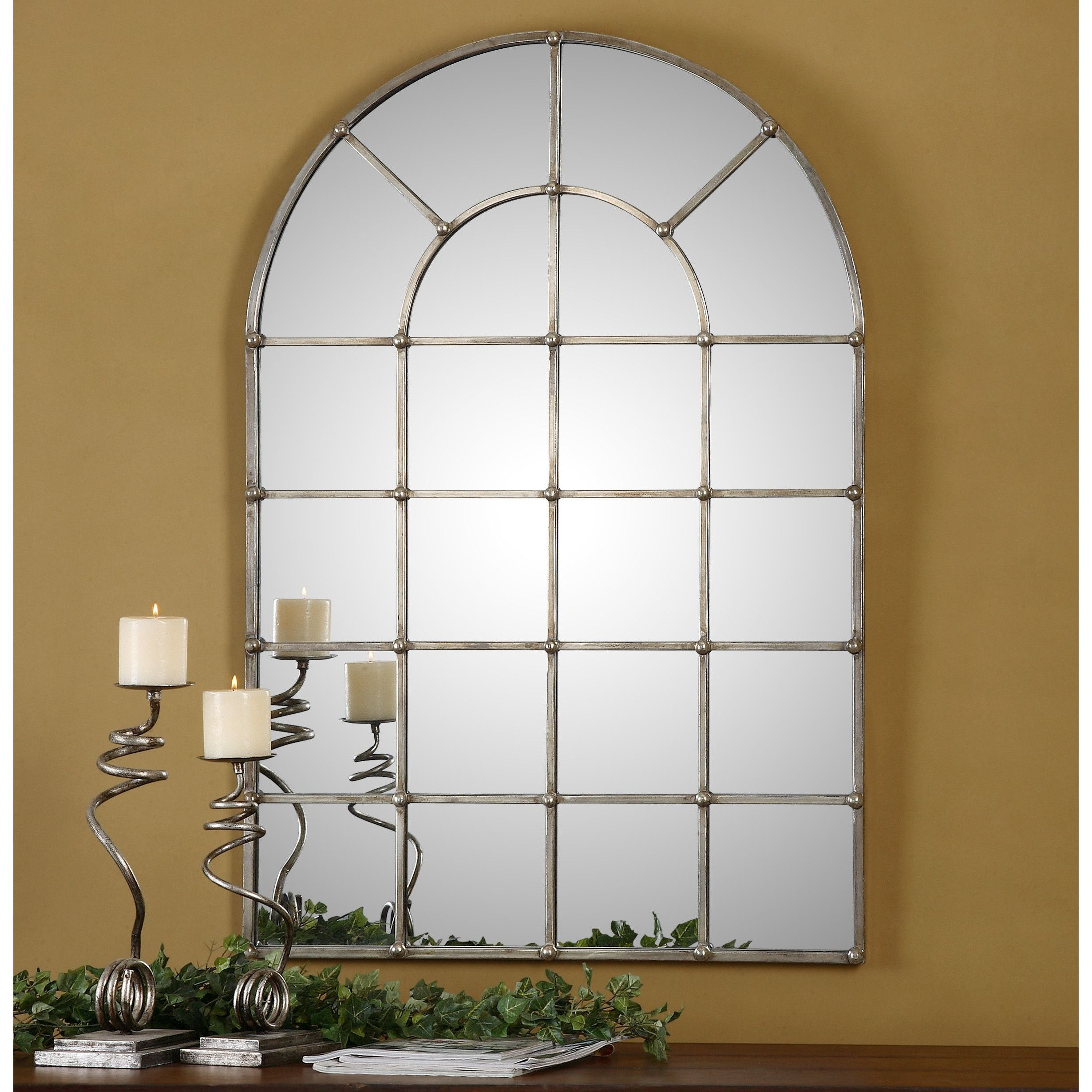 Wayfair Wall Mirrors uttermost barwell arch window mirror & reviews | wayfair | stacy