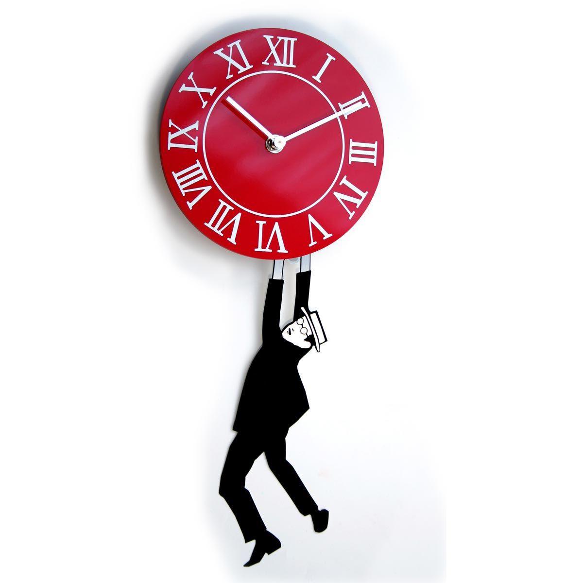 Orologio da parete rosso my kitchen pinterest clock for Orologio digitale da parete ikea