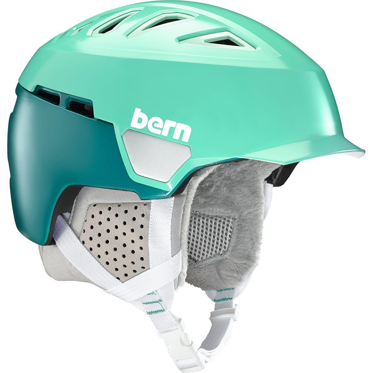 Bern Heist Womens Brim 2018 Ski /& Snowboard Helmet Satin Teal Green