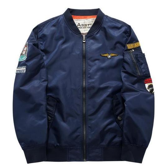 Flight Bomber Jacket Men Plus Size 6XL Men Pilot Bomber