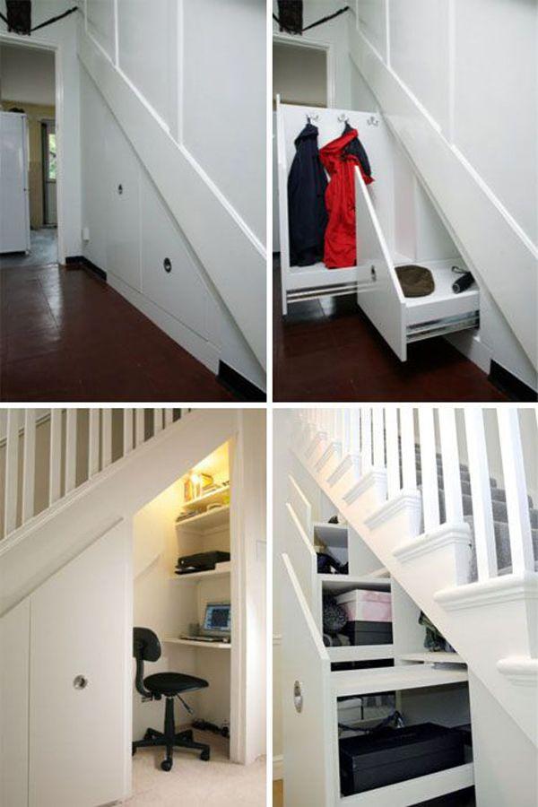 30 Modern Hallway Under Stairs With Storage Ideas Staircase | Modern Under Stairs Storage | Hallway Understairs Storage | Grey | Home Stair | Bajo | Minimal