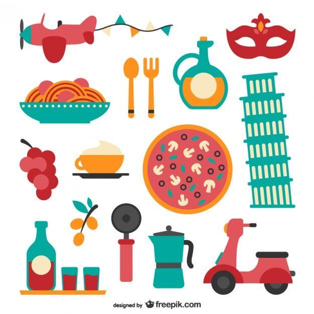 italian food pack free vector clip art and scrapbook rh pinterest com food vector free food vector free