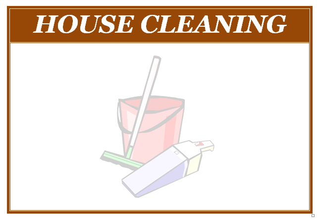 Housekeeping Flyers  Free House Cleaning Flyer  Stuff To Buy