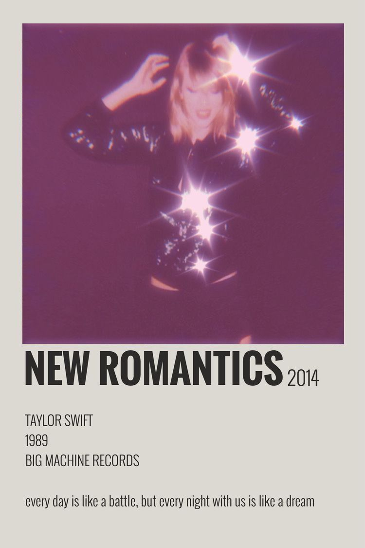 New Romantics Poster Polaroid Taylor Swift 1989 In 2020 New Romantics Taylor Swift 1989 Romantic