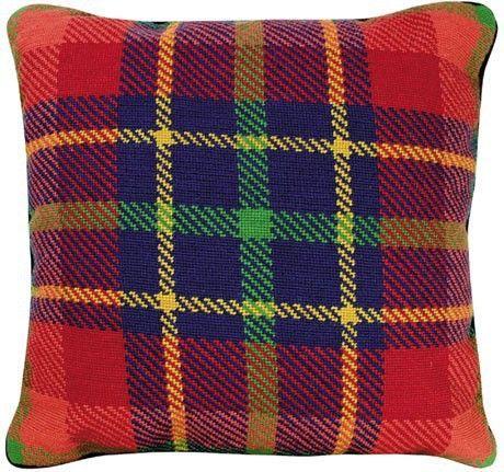 Van Campen - Red Plaid Decorative Pillow NCV-18