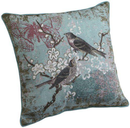 Brentwood 40Inch Bird Tapestry Pillow Blue Bird Brentwood Best Decorative Pillows With Birds
