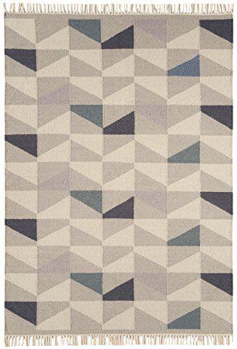 Teppich Wohnzimmer Carpet flachgewebt kurzflor Design HACKNEY KELIM