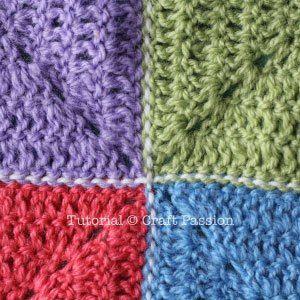 Flat Slip Stitch Join For Granny Squares #slipstitch