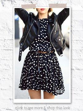 loopschoenen schattig goedkoop nu kopen Ichi Fluke zwarte korte jurk met witte stippen   Love it ...