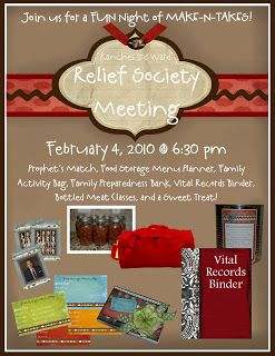Prepared NOT Scared!: Relief Society Meeting