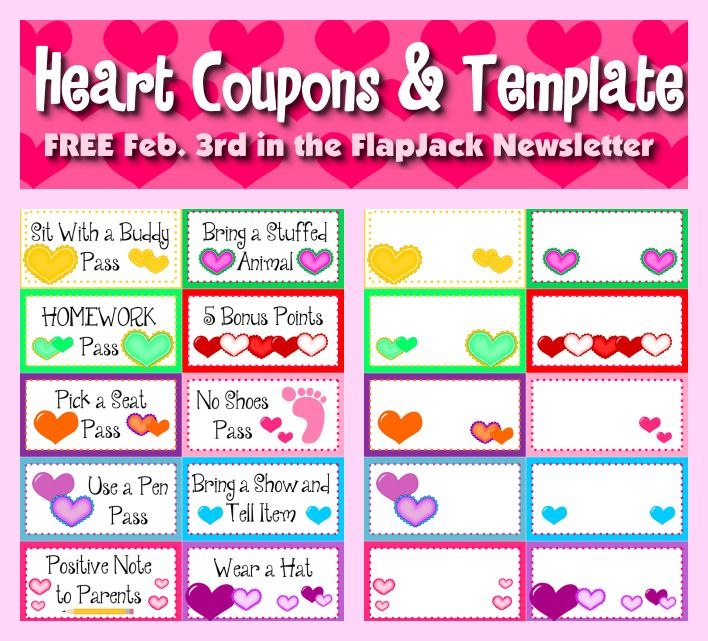 FREE heart behavior coupons and editable template in FlapJacku0027s - free sign up template