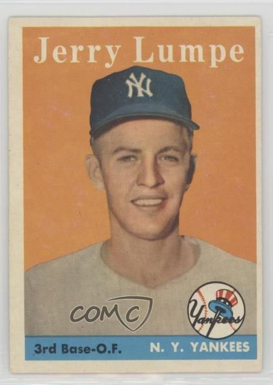 Details About 1958 Topps Baseball Card Jerry Lumpe 193 New York