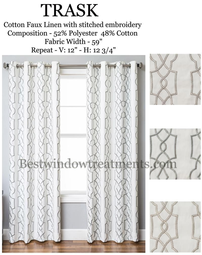 Trask Heavy Linen Style Curtains Panels In Standard Size Length