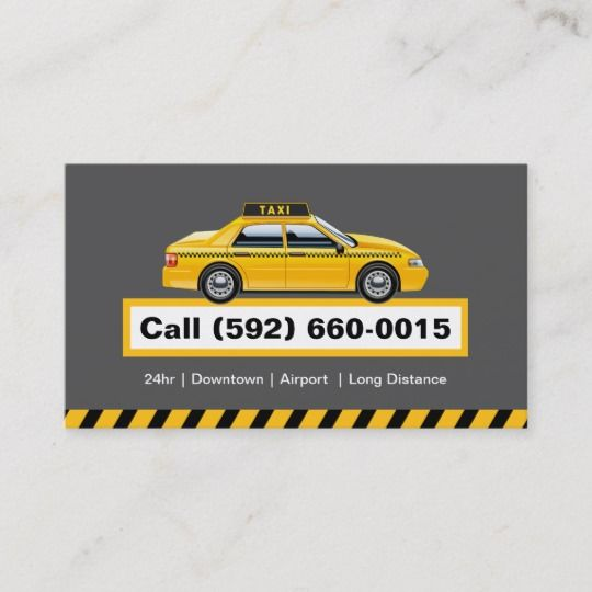 Licensed Taxi Driver Chauffeur Yellow Cap Business Card Zazzle Com Services Business Yellow Taxi Taxi
