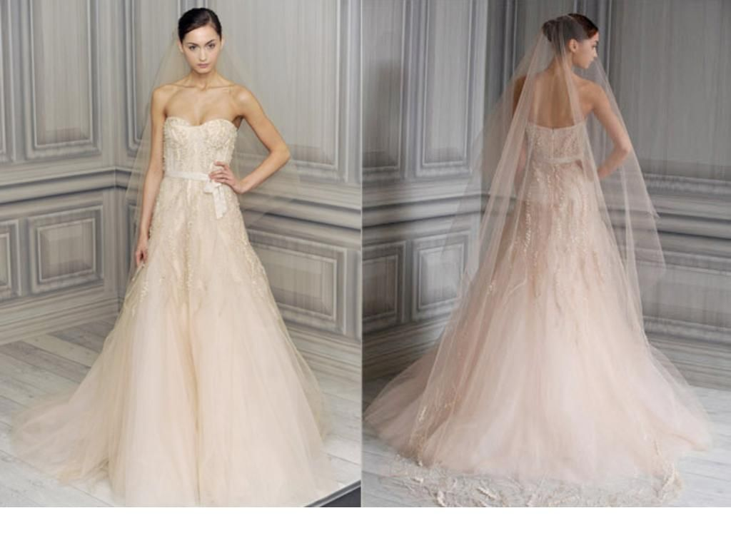 Monique Lhuillier Candy, $4,995 Size: 2 | Used Wedding Dresses ...