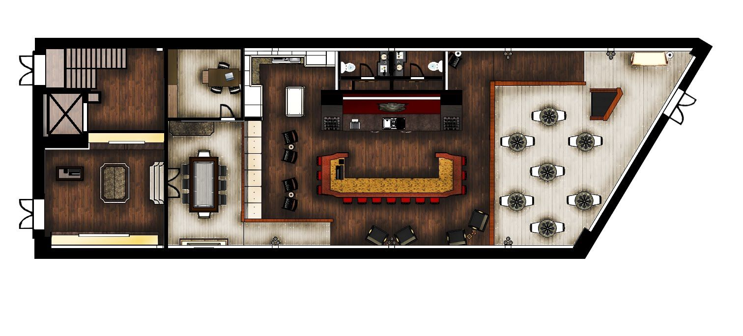wine bar floor plan Bar flooring, Speakeasy, Wine