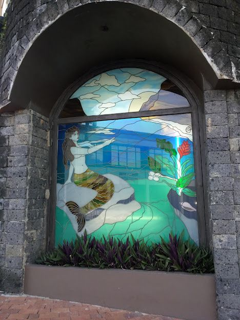 Mermaid Stained Glass In Hagatna Guam Us Islands My Island Mermaid Song